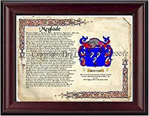 Mcglade Coat of Arms/ Family Crest on Fine Paper and Family History