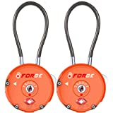 Forge Quality TSA Approved Luggage locks for travel accessories, suitcase, pelican case, set your own combination, Zinc…