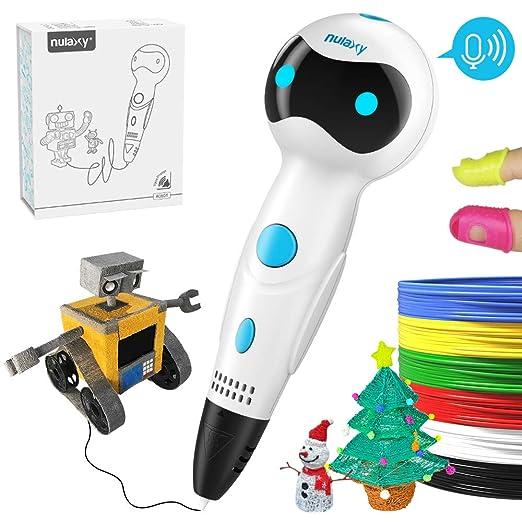 Pluma 3D Impresion, Nulaxy 3D Pen Niños Adultos, Pluma 3D Profesional con Filamentos, 3D Pluma Inteligente Kid Pen Set para Drawing Printing ...