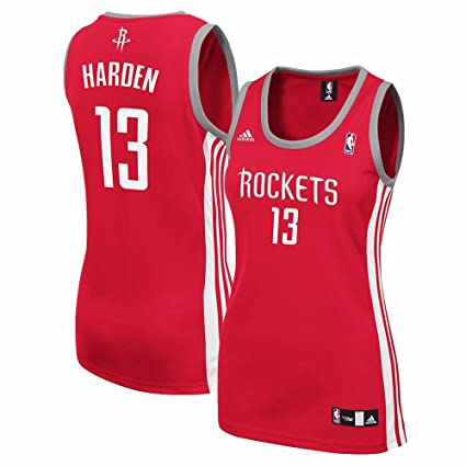4c58107e080 James Harden Houston Rockets NBA Adidas Women s Red Replica Jersey ...