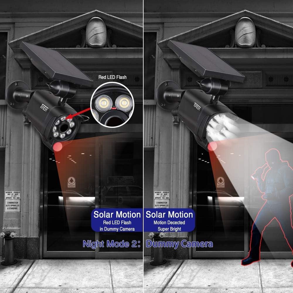 Lampe Solaire Tonton capteur de Mouvement ext/érieur Deux Modes de Fonctionnement pour la terrasse du Jardin autonomie: 2 Ans. Lampe de s/écurit/é Contre Les inondations solaires bimode 5watts 8 Del