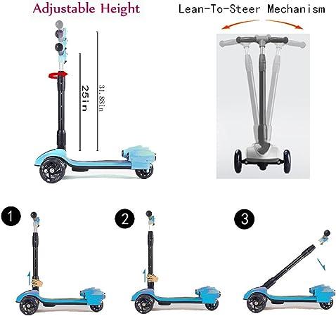 Amazon.com: MammyGol Scooters para niños, patinete de 3 ...