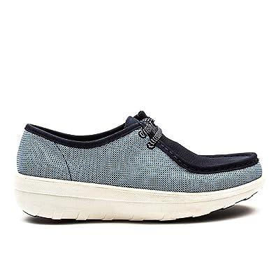 FitFlopTM Loaff Lace Up Moc Canvas Canvas Moc Schuhes Blau Weave UK5.5 Blau ... 285caa