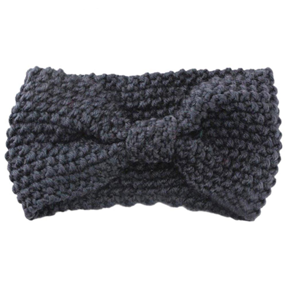 Sanwood Damen H/äkelarbeit Schleife Design Stirnband Winter Kopfband Haarband