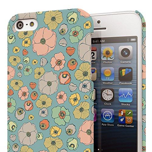 Koveru Back Cover Case for Apple iPhone 5S - Watercolor Floral Quartet