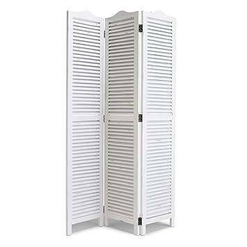 Raumteiler Lamellen miavilla paravent raumteiler lamellen holz weiß ca 122 x 180