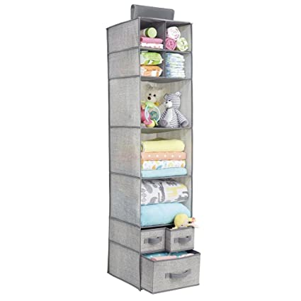 hanging closet organizer with drawers. InterDesign Aldo Fabric Hanging Closet Storage Organizer, For Clothing,  Sweaters, Shoes, Accessories Hanging Closet Organizer With Drawers D