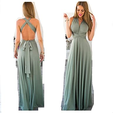 60ac209c07d5 Infinity Kleid, Ballkleid, Brautjungfernkleid, Gr. 34-42 türkis grün  Wickelkleid lang, 70 verschiedene Wickelarten, convertible dress, Brautkleid,  ...