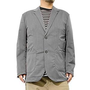 テーラードジャケット メンズ 大きいサイズ スーツ地 ストレッチ ジャケット
