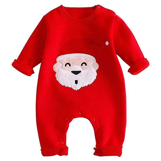b60765d85c Bebone Mameluco Pelele Bebé Niños Niñas Papa Noel Ciervo Para Navidad Pijama  de Rompers Manga Larga  Amazon.es  Ropa y accesorios