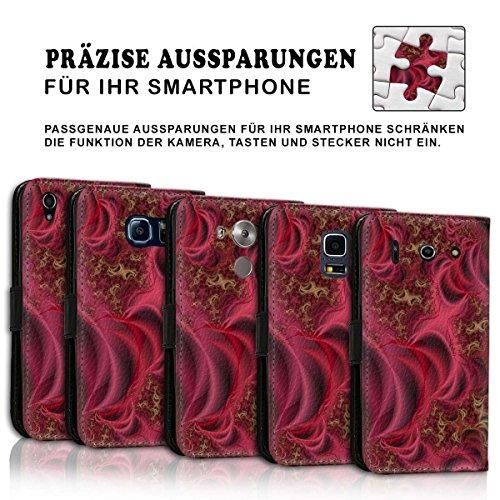 Wallet Book Style Flip Handy Tasche Case Schutz Hülle Schale Motiv Etui für Apple iPhone 6 Plus / 6S Plus - Design Flip MV298