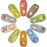 Toddler Anti Slip Non Skid No Show Socks Low Cut With Grips for Kids Boys Girls 10 Pairs