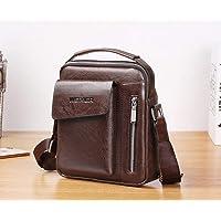 Men's Faux Leather Crossbody Bag - Universal Vertical Shoulder Bag