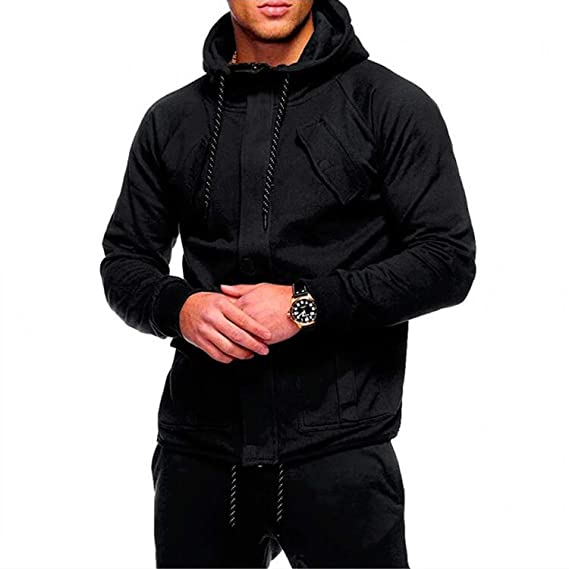 ACD 2018 Fashion Hoodies Men Sudaderas Hombre Hip Hop Mens Solid Hooded Zipper Hoodie at Amazon Mens Clothing store:
