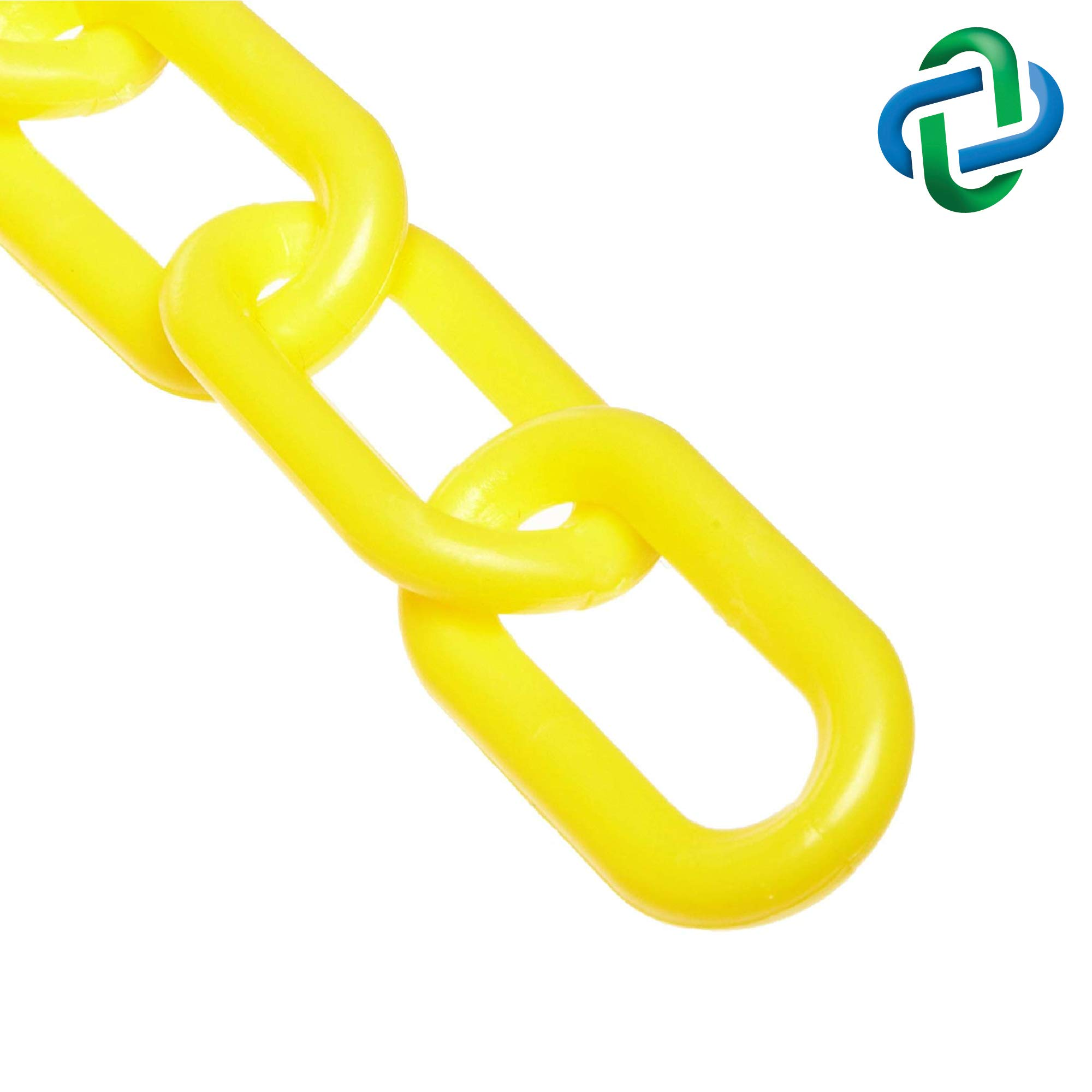 Mr. Chain Plastic Barrier Chain, Yellow, 2-Inch Link Diameter, 50-Foot Length (50002-50) by Mr. Chain