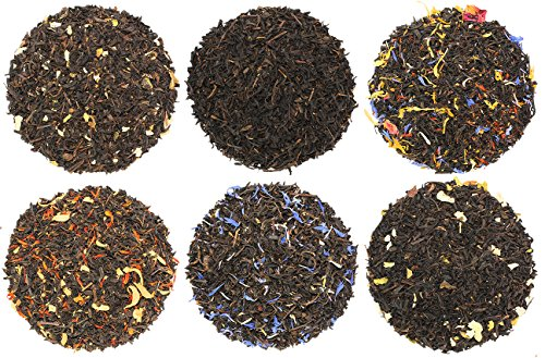 Fruit-Tea Summer Tea Sampler, Refreshing Loose Leaf Tea Sampler Featuring Gold Rush, Raspberry, Strawberry Kiwi, and More!