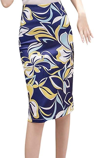 Falda Estampado Mujer Fiesta Elegante Vintage/💖QIjinlook💖/Falda ...