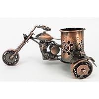 Handmade CraftsCreative office desktop accessories Harley Davidson metal pen holder