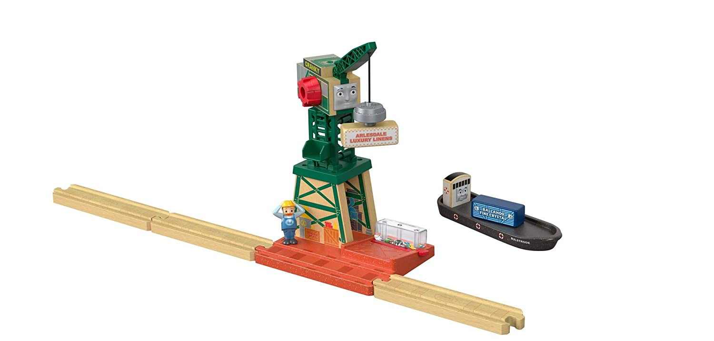 jouet pour enfant 3 ans et plus FHM72 Thomas et ses amis coffret grue en bois Cranky cargo et une figurine