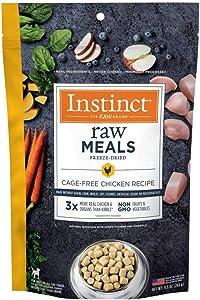 Instinct Freeze Dried Raw Dog Food, Raw Meals Grain Free High Protein Freeze Dried Dog Food