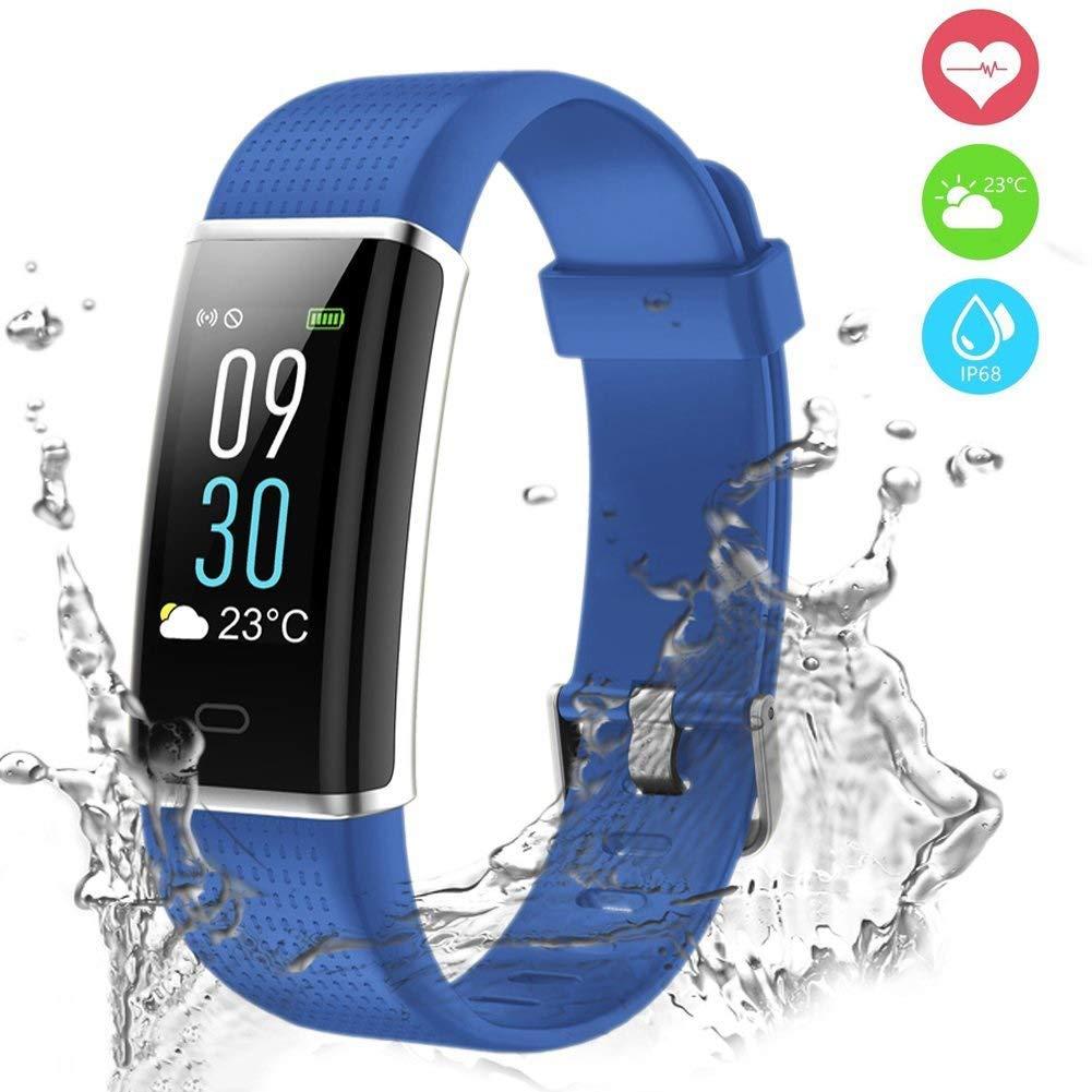 Pulsera Actividad, Pulsera Inteligente Pantalla Color Reloj Impermeable IP68 con Monitor de Ritmo Cardíaco, Captura de cámara, Notificación de Mensajes etc ...