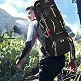 Sports Mountaineering Internal Frame Backpack Keynice Lightweight Water-resistant Camping Rucksacks/ Mountaineering Bag Hiking Backpack for Outdoor Sports