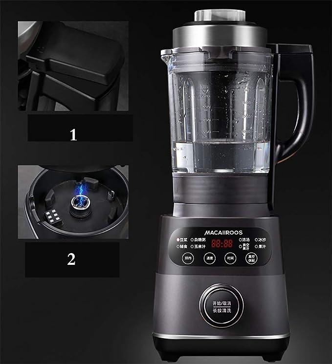 WYJW Licuadora Smoothie, 8 en 1 Procesador de Alimentos Sistema de Mezclador de Cocina Multifunción, Licuadora/Picadora/Molinillo de Alta Velocidad 1000W con Botella de 1750ml Libre de BPA, F: Amazon.es