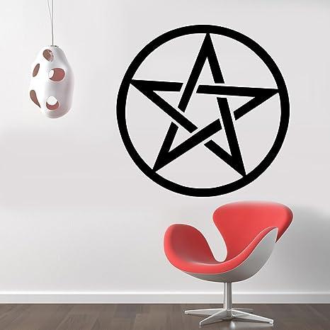 Adhesive Wall Hangers Pentagram Decor Wall Sticker Wall Decals