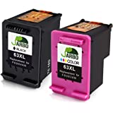 JARBO Remanufactured Ink Cartridge for 63XL High Yield, 1 Black 1 Tri-color, Ink Level Display Used in Envy 4520 4516 Officejet 4650 3830 3831 4655 Deskjet 2130 1112 3630 3633 3634 Printer