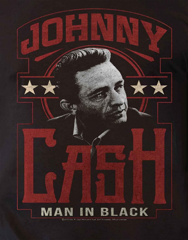 Johnny Cash T Shirt Man in Noir Vintage Logo Officiel Homme Nouveau