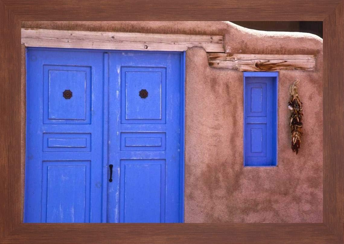 Amazoncom New Mexico Santa Fe Blue Door And Window By Jay