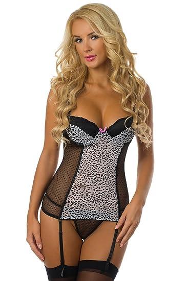 001e5f794 Velvet Kitten Sexy Snow Leopard Bustier Set 2952 at Amazon Women s ...