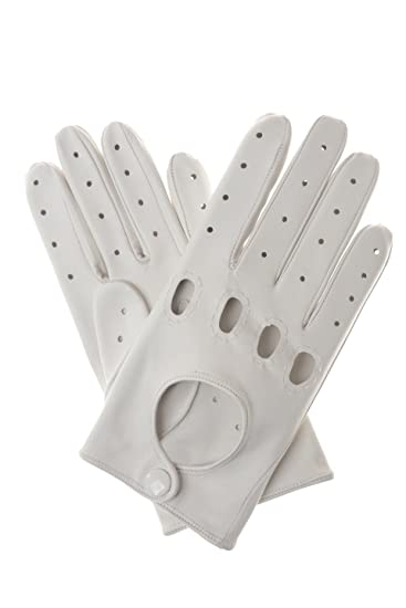 new styles exclusive shoes official shop Men's Driving Gloves – White