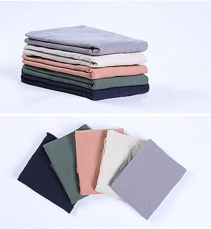 BANGBANGSHOP Delantal de Lino y algod/ón Suave Estilo japon/és Color s/ólido Forma de X Cocina para Cocina Regalo para Mujer Azul Marino Verde Militar