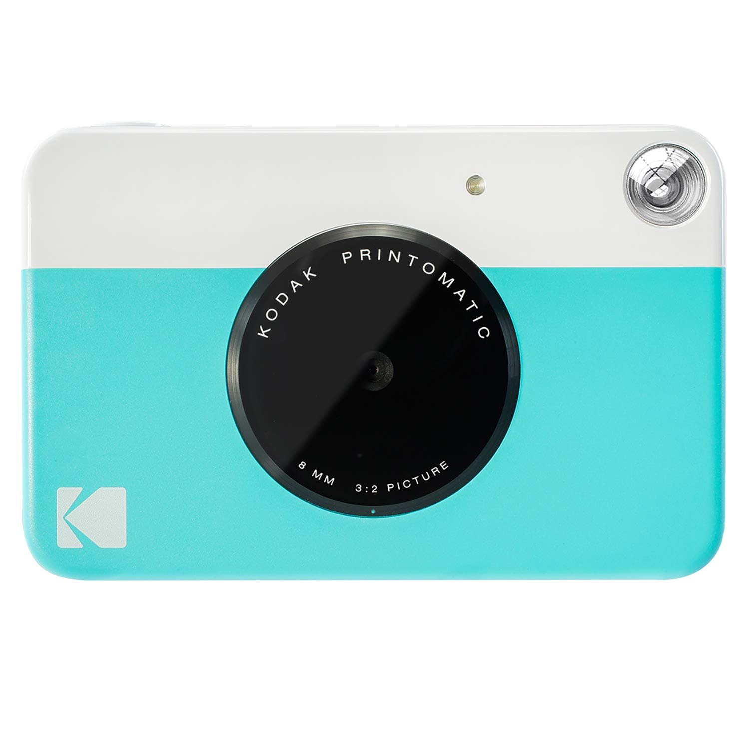 Kodak PRINTOMATIC Digital Instant Print Camera (Blue), Full Color Prints On Zink 2x3 Sticky-Backed Photo Paper - Print Memories Instantly by Kodak