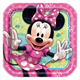 Square Minnie Mouse Dinner Plates, 8ct