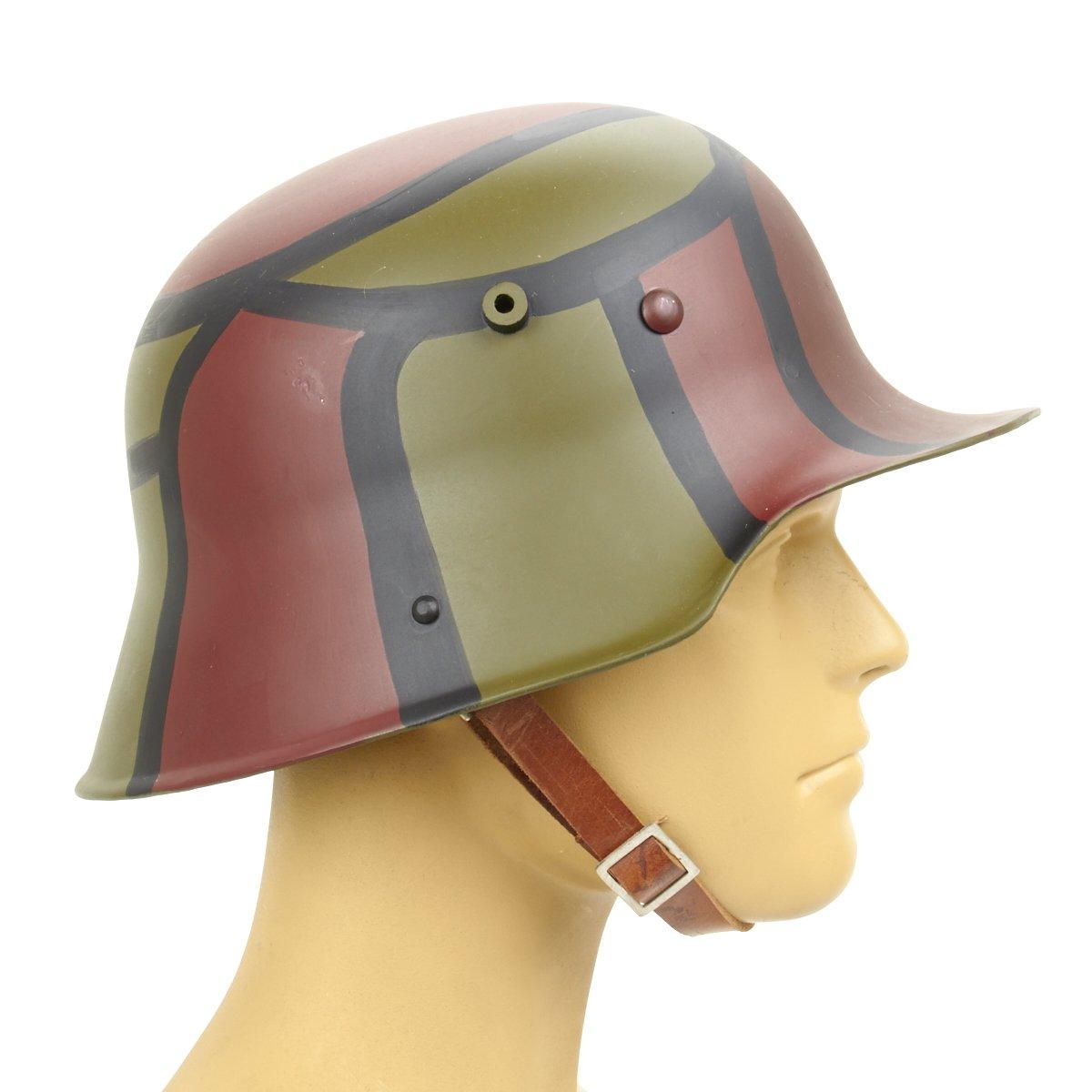 German WWI M16 Stahlhelm Steel Hand Painted Camouflage Helmet, M-1916 Inc.
