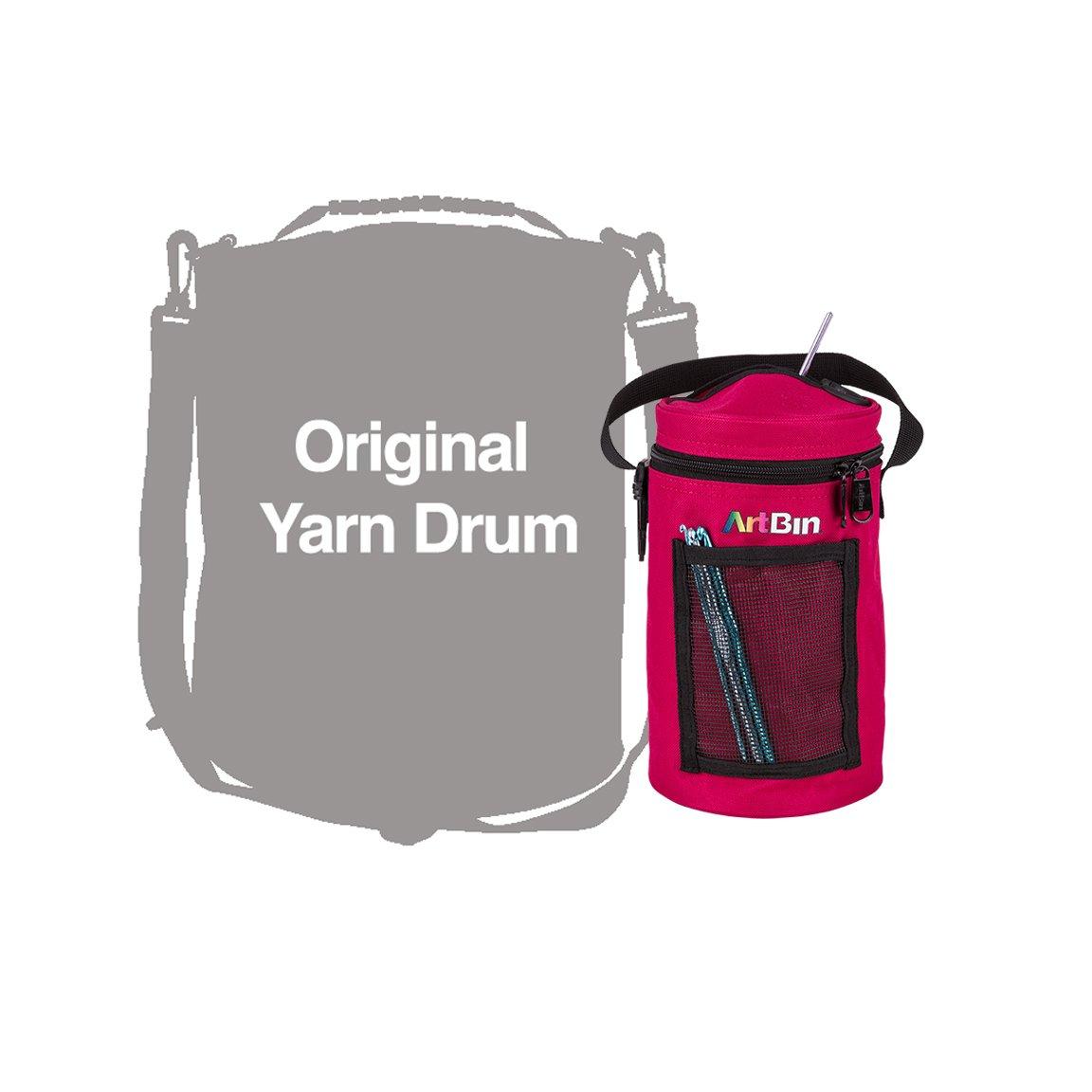 ArtBin Mini Yarn Drum Knitting & Crocheting Tote Bag-Raspberry, 6831AG Flambeau Inc.