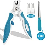 Sharp Dog Nail Clippers Trimmers with Quick Sensor, Pet Nail Clippers with Safety Guard for Small Large Dogs and Cats, Dog Nail Trimmer for Thick Nails with Free Nail File & Dog Toothbrushes