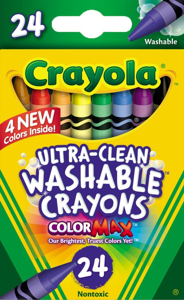 Amazon.com: Crayola Washable Crayons, 24 count (52-6924): Toys & Games
