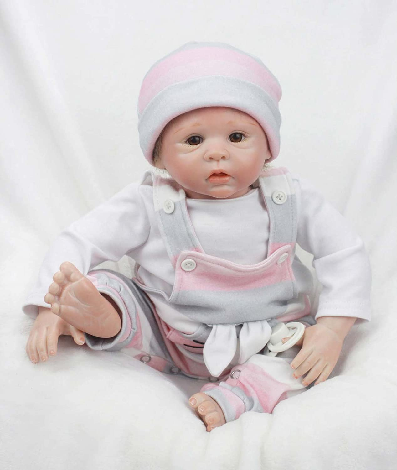 Cute Kitty Terabithia 18 inch Real Life Reborn Baby Doll,Preemie Baby Doll Handcrafted in Soft Vinyl Like Silicone and Weighted Cloth Body