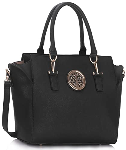 d2e7b3d247 Womens Faux Leather Shoulder Bags Ladies Handbags Designer Style Tote New  Large Luxury New Look