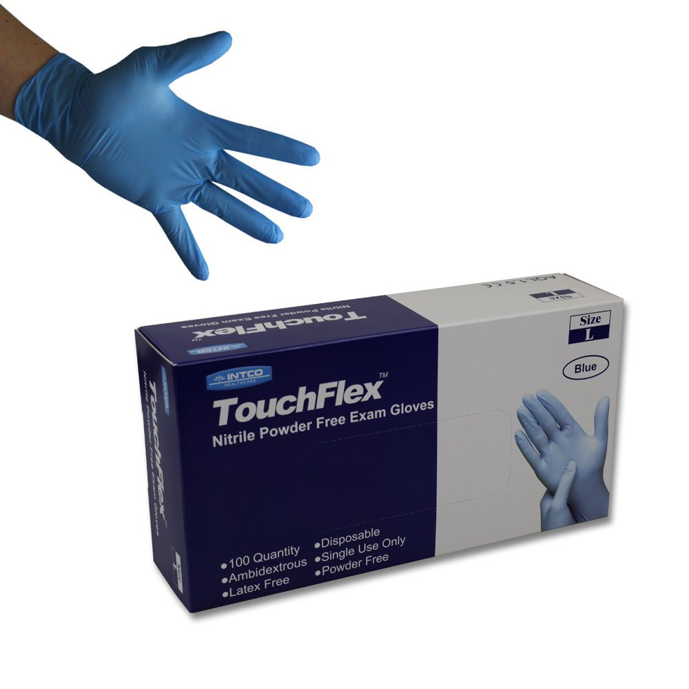 Handsafe GN91 Powder Free Blue Nitrile Disposable Gloves Pack of 200 Small
