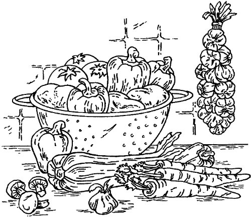Still Vegetable Life - Inky Antics Mounted Rubber Stamp 3