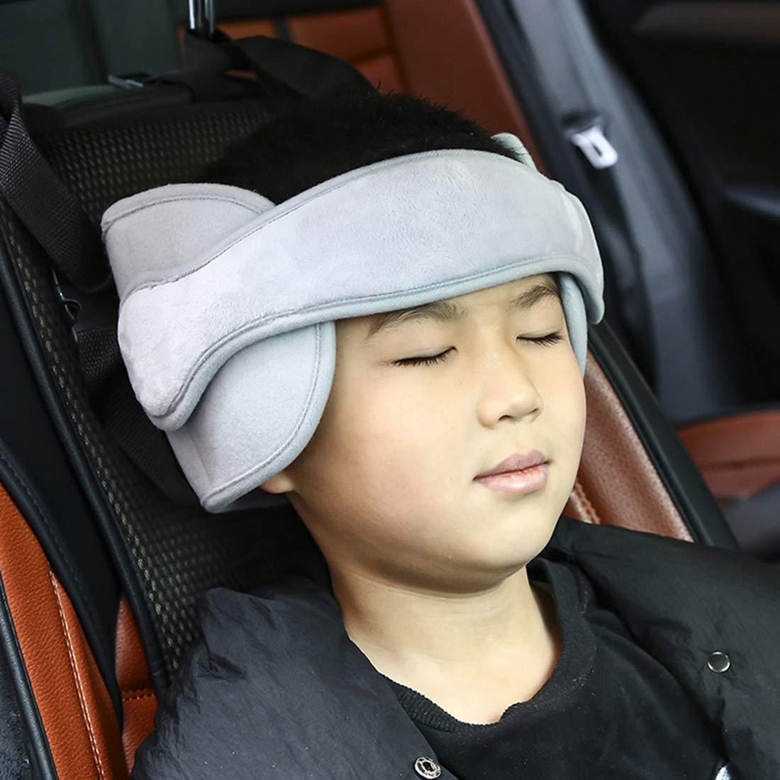 Grau Autositz Kopfband-Verstellbarer Komfortable Safe Sleep L/ösung Calemei Nackenst/ützen f/ür Kinderautositze