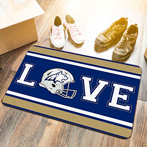(College Flags and Banners Co. Montana State University Bobcats Love Utility Man Cave Door Mat)