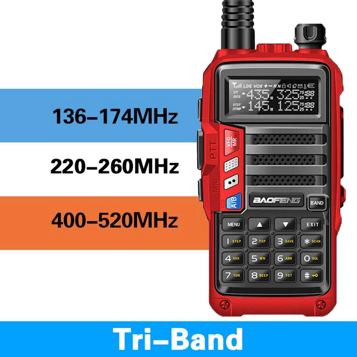 BaoFeng UV-9S 5W Tri-Band Radio 136-174 220-260 400-520Mhz Extra 220 Antenna Amateur Handheld ham Two Way Radio