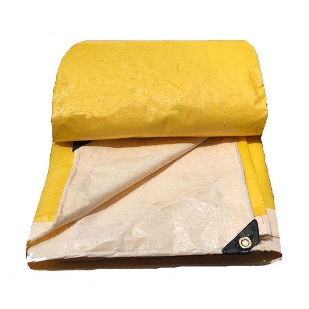 ZEMIN オーニング サンシェード ターポリン 防水 日焼け止め テント シート ルーフ 防風 トラック キャンバス ポリエステル、 黄、 190G/M²、 利用可能な16サイズ (色 : イエロー いえろ゜, サイズ さいず : 7X10M) B07D5W8HL1 7X10M|イエロー いえろ゜ イエロー いえろ゜ 7X10M