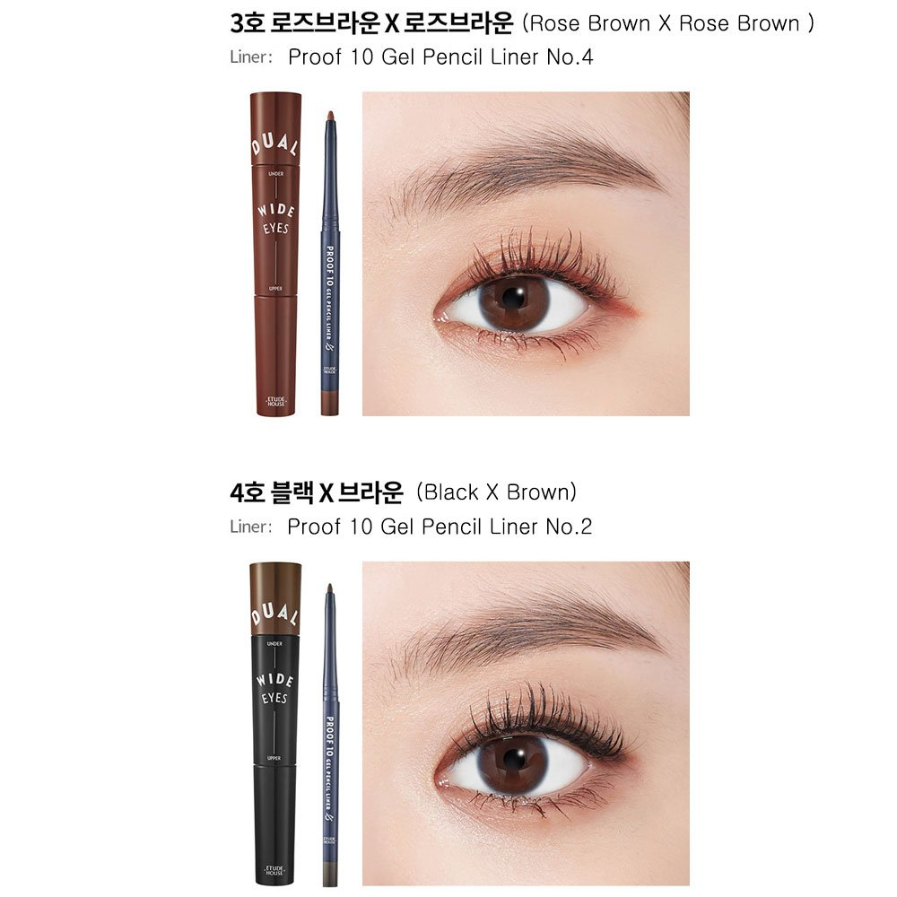 fff151450af Amazon.com : Etude House Dual Wide Eyes Mascara #04 Black x Brown : Beauty