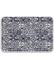 Marokański ceramiczny wzór w średniowieczu inspiracje portugalskie ozdobne kwadraty wycieraczka antypoślizgowa mata łazienkowa chłonne dywaniki łazienkowe pianka z pamięcią kształtu maty łazienkowe